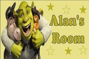 Personalised Shrek Door Plaque