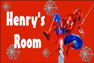 Personalised Spider-man Door Plaque Design 1