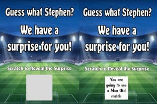 Personalised Surprise Football Match Reveal Scratch Card