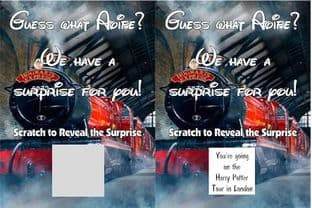 Personalised Surprise Harry Potter Tour Reveal Scratch Card