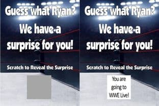 Personalised Surprise Wrestling Match Reveal Scratch Card