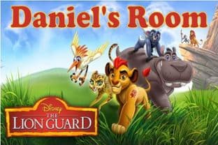 Personalised The Lion Guard Door Plaque