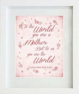Personalised To the world... Print