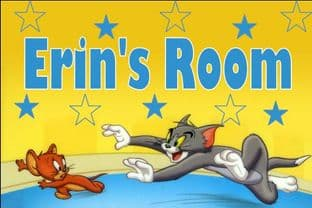 Personalised Tom and Jerry Door Plaque