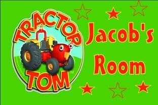 Personalised Tractor Tom Door Plaque