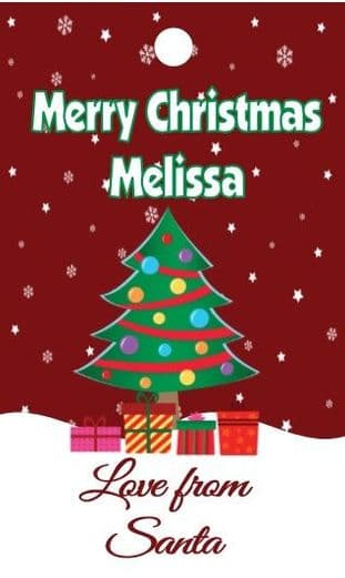 Personalised Tree Christmas Gift Tags