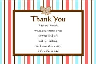 Personalised Twins Christening Thank You Cards