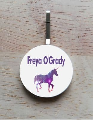 Personalised Unicorn Jacket Zipper Pull