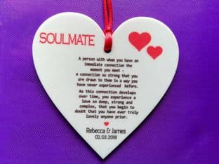 Personalised Valentine/Love Hanging Ornament Design 3