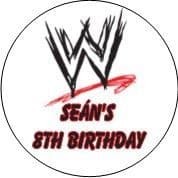 Personalised  WWE Logo Party Stickers