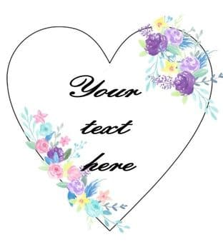 Personalised Your Text Heart Shape 1