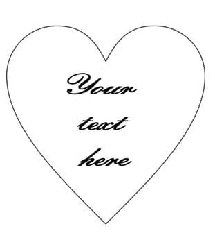 Personalised Your Text Heart Shape 2