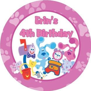 Pink Theme Blues Clues Stickers