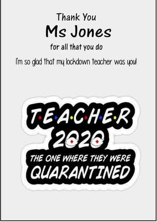 Quarantine Lockdown Teacher Card 1