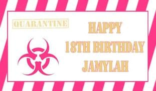 Quarantine Pink & Gold Theme  Chocolate Candy Bar Wrapper