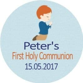 Red Hair Boy Communion Sticker