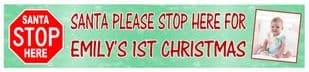 Santa Stop Here Photo Banner Design 2
