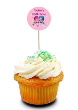 Shimmer and Shine Cupcake Picks/Toppers