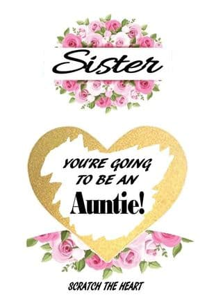 Sister pregnancy reveal card