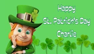 St. Patrick's Day Chocolate Bar Wrapper Design 2