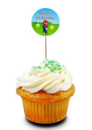Super Mario Brothers Cupcake Picks/Toppers