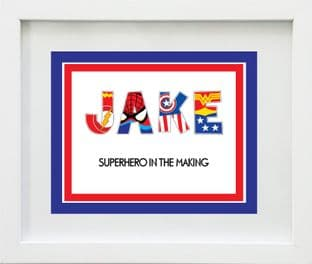 Superhero Letters Name Print