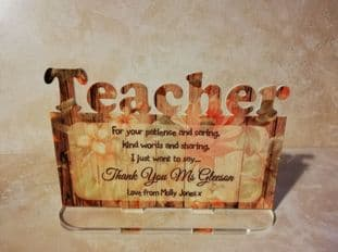Teacher Plaque
