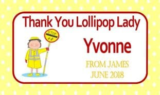 Thank You Lollipop Lady Chocolate Candy Bar Wrapper