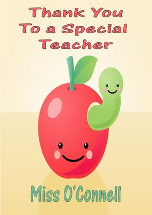 Thank You Teacher Card Design 4