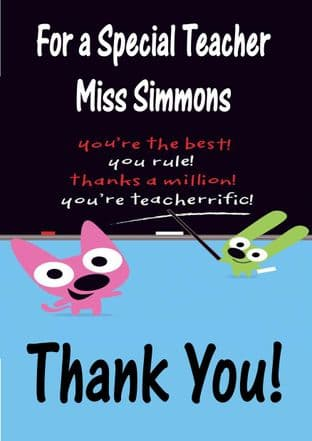 Thank You Teacher Card Design 5