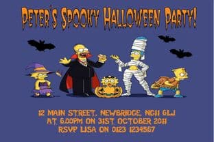 The Simpsons Halloween Invitation