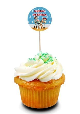 Toy Story Cupcake Picks/Toppers