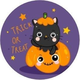Trick or Treat Cat Cupcake Toppers