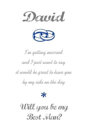 Will you be my Best Man Card Design 1