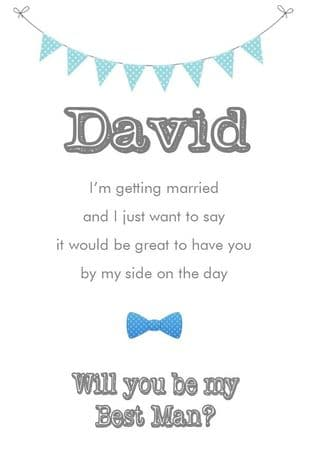Will you be my Best Man Card Design 2