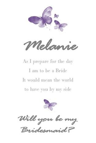 Will you be my Bridesmaid Card Design 4