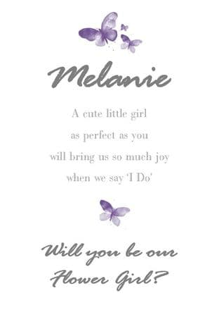 Will you be my Flower Girl Design 1