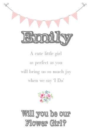 Will you be my Flower Girl Design 5