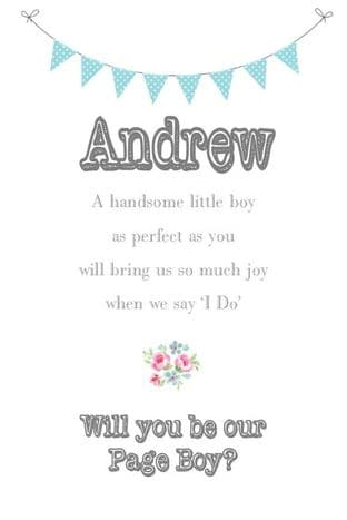 Will you be my Page Boy Design 4
