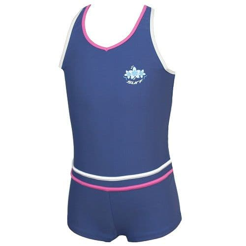 Girls Boyleg Swimming Costume UPF 50+