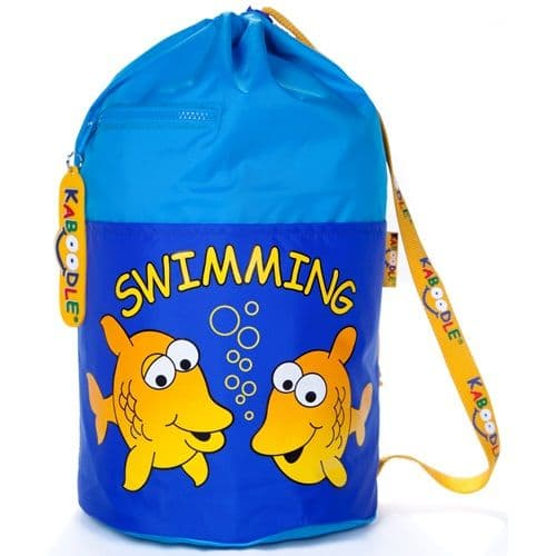 Kaboodle Fish Swim and Sports Bag - Aqua and Royal Blue