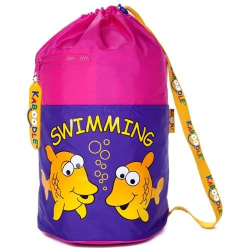 Kaboodle Fish Swim and Sports Bag - Pink and Purple