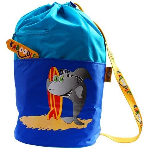 Kaboodle Shark Swim and Sports Bag - Aqua and Royal Blue