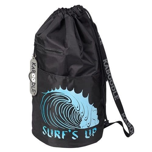 Kaboodle Surf's Up Swim and Sports Bag - Black and Aqua Blue