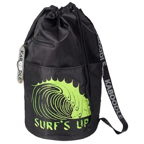 Kaboodle Surf's Up Swim and Sports Bag - Black and Lime