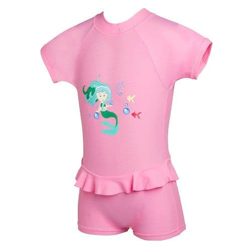 Kidz Swimmers Baby Girls UV Sunsuit UPF 50+