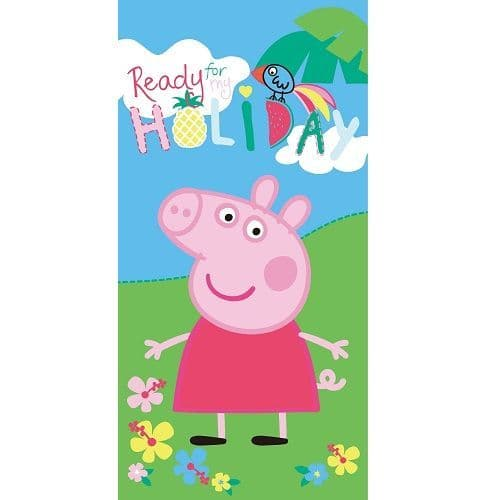 Peppa Pig Ready For My Holiday Beach Towel