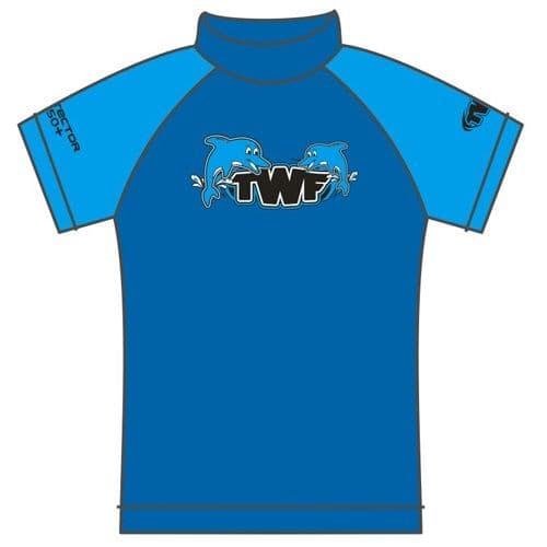 TWF Kids Dolphin UV Sun Protection Rash Vest UPF 50+
