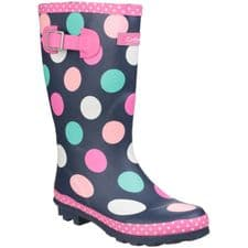 Cotswold Dotty Childrens Wellingtons Red