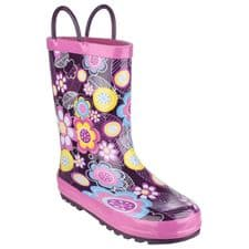 Cotswold Puddle Childrens Wellingtons Flower